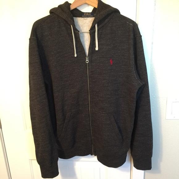 8b3cc0bf Polo Ralph Lauren Dark Grey Full Zip Hoodie. M_5b5696e59264afaf93b595c1